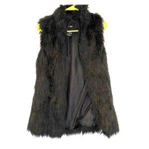 Black fur vest - size M